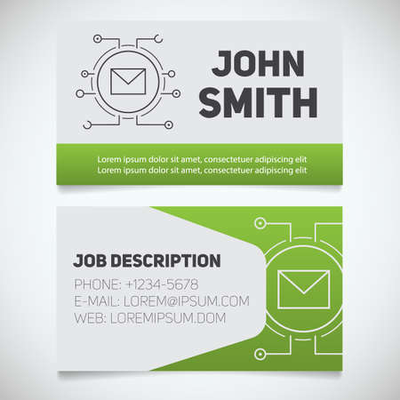 business card print template with letter logo easy edit manager system administrator - Business Card Manager