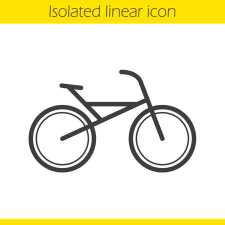 mtb: Bike linear icon. Bicycle. Thin line illustration. Cycling contour symbol. Vector isolated outline drawing Illustration
