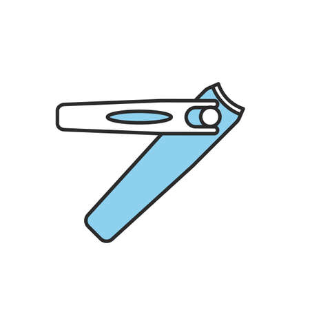 Manicure tweezers color icon. Manicure clippers. Isolated vector illustration