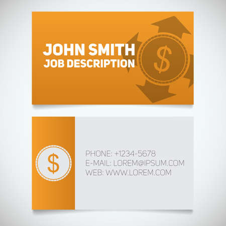 business card print template with money spending logo easy edit manager accountant - Accountant Business Card