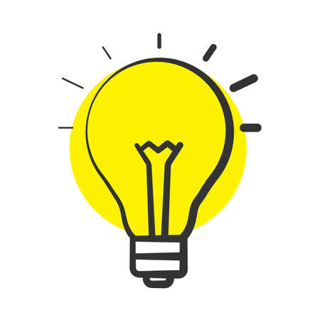 Good idea color icon. Light bulb. Eureka. Isolated vector illustration Ilustração