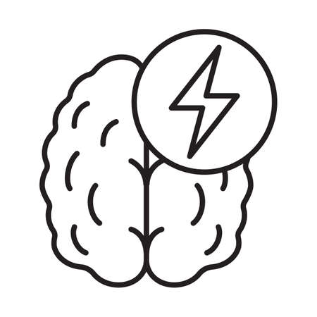 Stroke linear icon. Thin line illustration. Human brain. Cerebral hemorrhage contour symbol. Vector isolated outline drawing