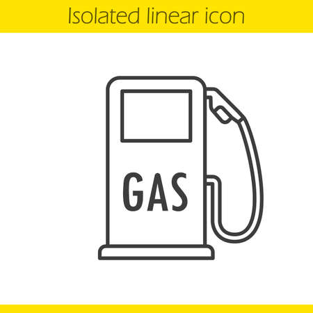 Gas station linear icon. Thin line illustration. Contour symbol. Vector isolated outline drawing Stock Vector - 76486490