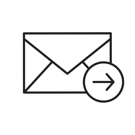 Send message linear icon. Thin line illustration. Email letter contour symbol. Vector isolated outline drawing Illustration
