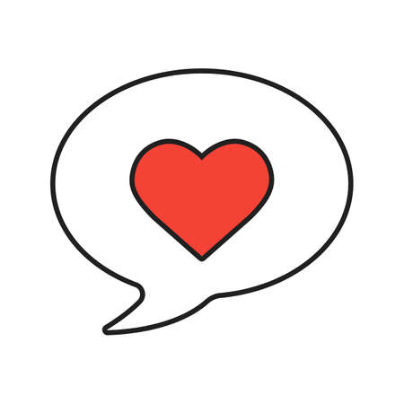 Love message linear icon. Thin line illustration. Romantic sms with heart contour symbol. Vector isolated outline drawing