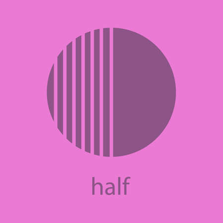 Half glyph color icon. Silhouette symbol. Half hatched abstract metaphor. Negative space. Vector isolated illustration