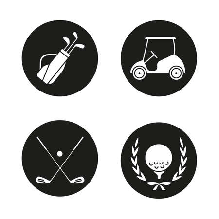 Golf Clubs Crossed Silhouette