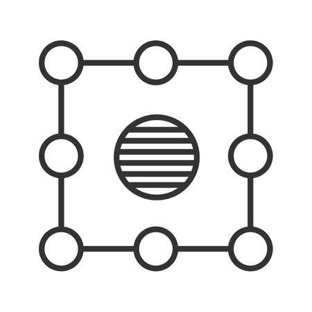 Símbolo de aislamiento icono lineal. Ilustración de línea delgada. Aislamiento abstracto metáfora símbolo de contorno. Vector aislado dibujo de contorno