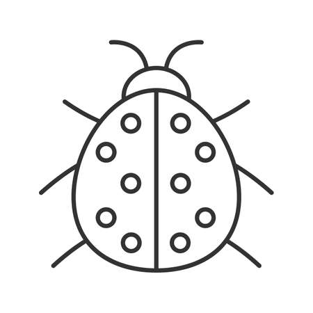 Ladybug Linear Icon. Thin Line Illustration. Ladybird Contour ...