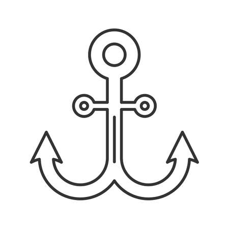 Anchor linear icon. Thin line illustration. Contour symbol. Vector isolated outline drawing