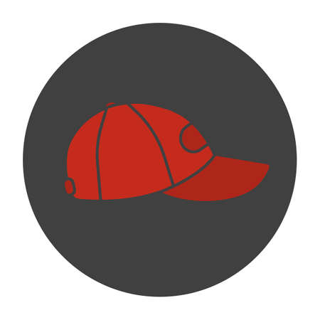 Baseball cap glyph color icon. Silhouette symbol on black background. Negative space. Vector illustration Çizim