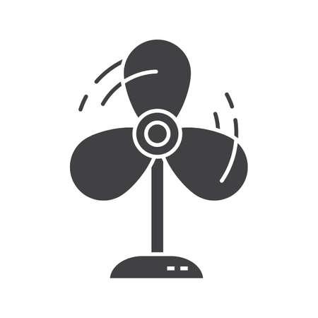 blower: Fan glyph icon. Silhouette symbol. Ventilator. Negative space. Vector isolated illustration Illustration