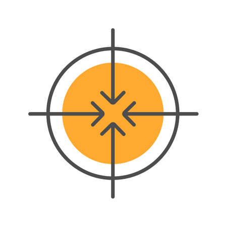 Aiming symbol color icon. All direction arrows. Isolated vector illustration Illustration