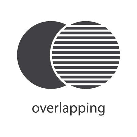 parallelism: Overlapping glyph icon. Silhouette symbol. Convergence abstract metaphor. Negative space. Vector isolated illustration