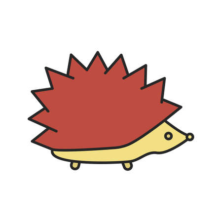 Hedgehog color icon. Urchin. Isolated vector illustration