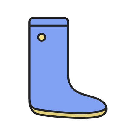 Watertight color icon. Gumboot. Isolated vector illustration