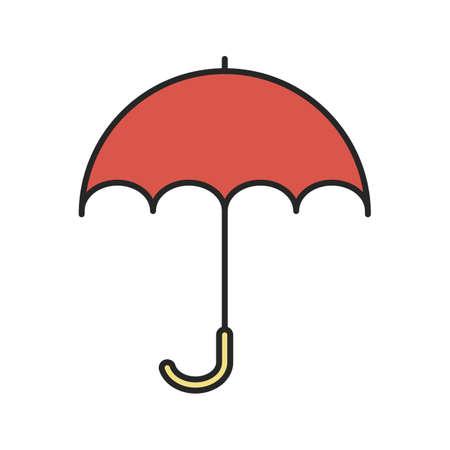 gamp: Umbrella color icon. Opened rain umbrella. Isolated vector illustration