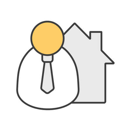 Broker color icon. Realtor. Isolated vector illustration