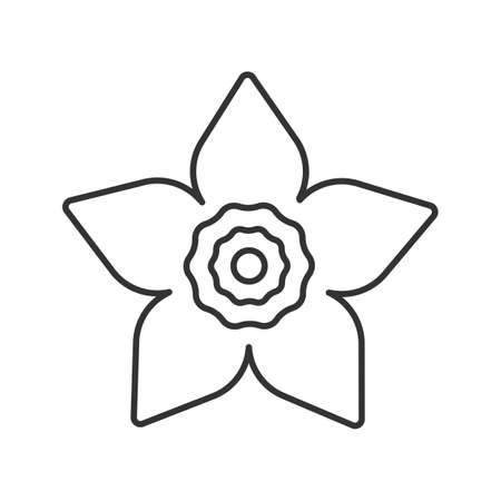 Lily of the valley may lily linear icon garden spring flower jonquil head linear icon flowering plant thin line illustrationrden spring flower contour symbol vector isolated outline drawing mightylinksfo
