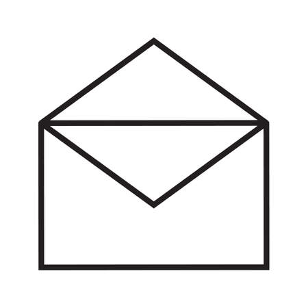 Open letter linear icon. Email thin line illustration. Sms message contour symbol. Vector isolated outline drawing Illustration