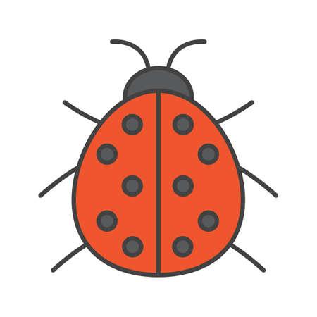 Ladybug color icon. Ladybird. Isolated vector illustration