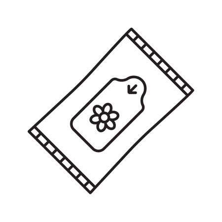 Humide lingettes icône linéaire. Illustration de la ligne mince. Symbole de contour de tissus. Dessin de contour isolé Vector Vecteurs