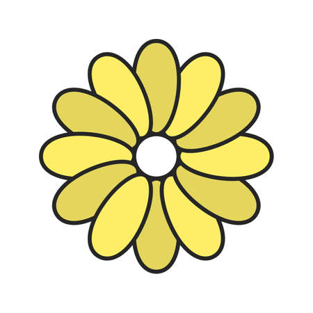 Chamomile color icon. Isolated vector illustration