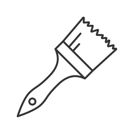 Paint brush linear icon. Thin line illustration. Contour symbol. Vector isolated outline drawing 矢量图像