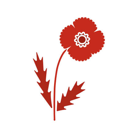 poppy flower glyph color icon silhouette symbol on white background royalty free cliparts vectors and stock illustration image 85455258