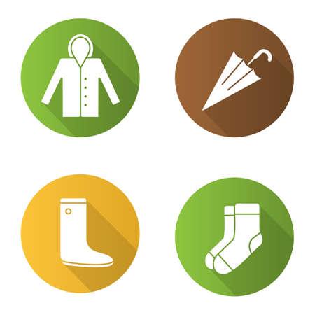 Autumn clothes icons