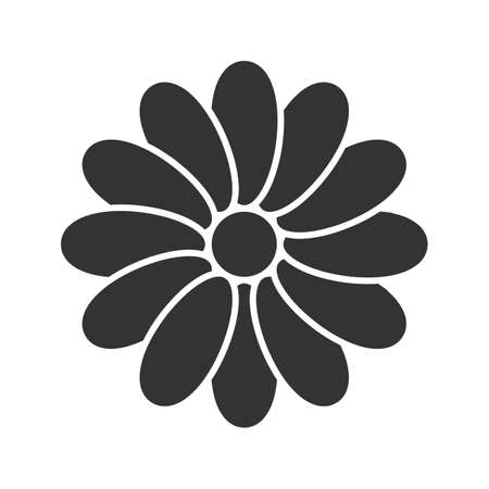 Chamomile head glyph icon.