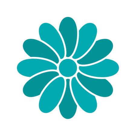 Chamomile head glyph color icon.