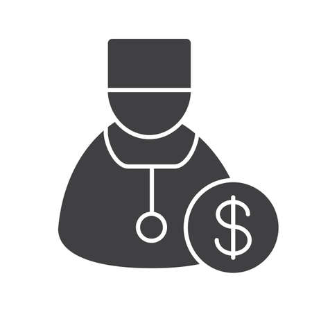 Doctor services glyph icon. Vector Illustration