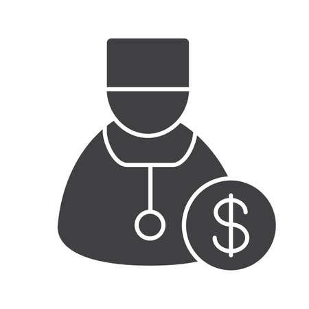 Doctor servicios glifo icono. Ilustración de vector
