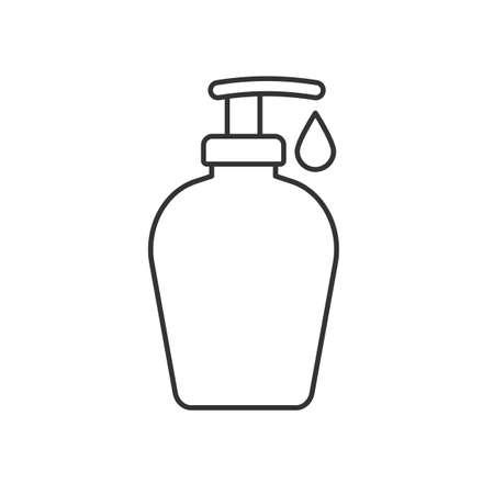 Shower gel linear icon.