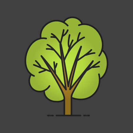 Tree color icon.