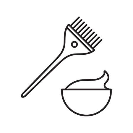 couture dentifrice icône linéaire . thin line icône . brosse à feu avec le fromage dans le signe de contour. symbole de griffonnage . contour vecteur