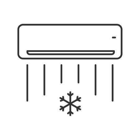 Air conditioner linear icon. Thin line illustration. Contour symbol. Vector isolated outline drawing