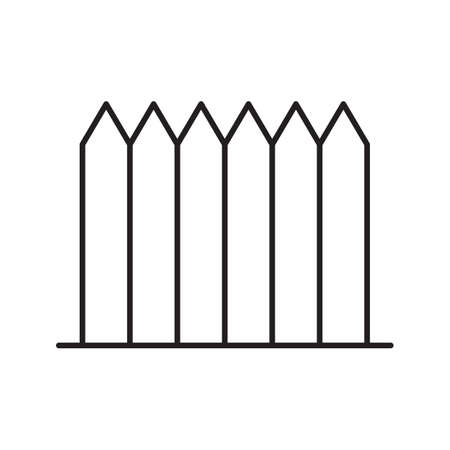 Wooden fence linear icon. Thin line illustration. Picket contour symbol. Vector isolated outline drawing