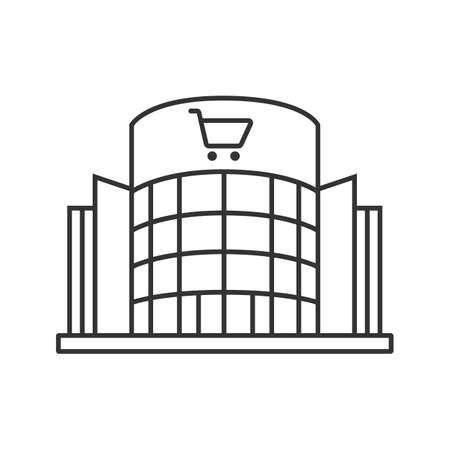 centre commercial linéaire icône. signe de centre commercial . thin signe de l & # 39 ; icône de shopping. symbole de contour doodle de vecteur de coupe