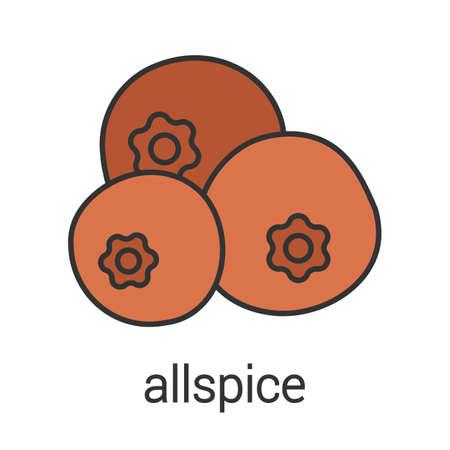 Allspice color icon. Pimento. Isolated vector illustration