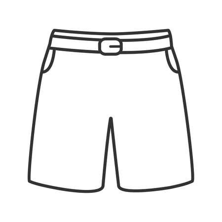Icono lineal de troncos de natación. Ilustración de línea delgada. Pantalones cortos deportivos. Símbolo de contorno Dibujo de contorno aislado del vector