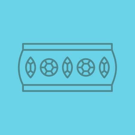 Womens bracelet linear icon. Thin line outline symbols on color background. Vector illustration