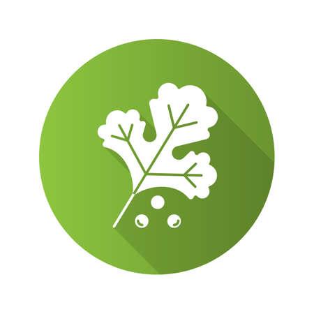 Coriander flat design icon. Illustration