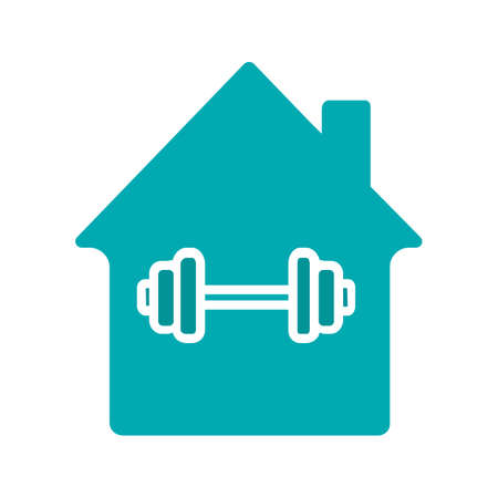 Home sport training glyph color icon