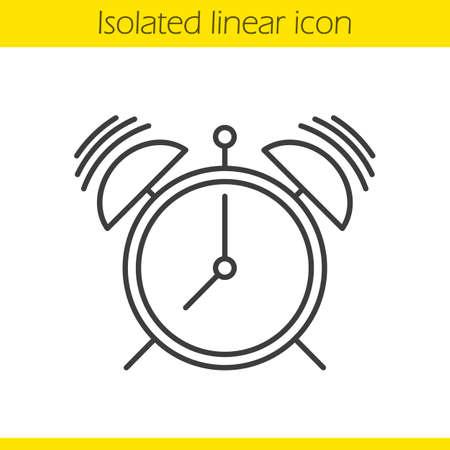 鳴っているアラーム時計線形アイコン  イラスト・ベクター素材