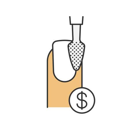 clip art cost: Nail polishing price color icon