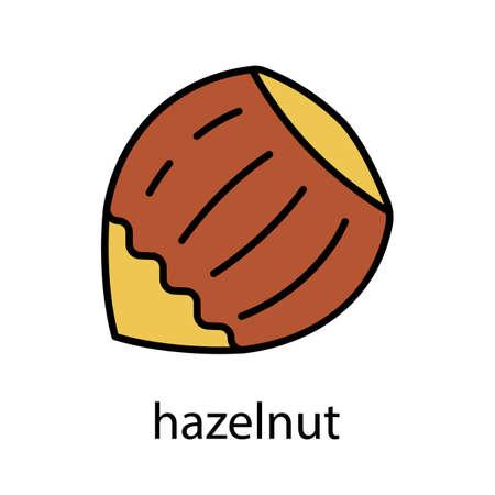 filled: Hazelnut color icon Illustration