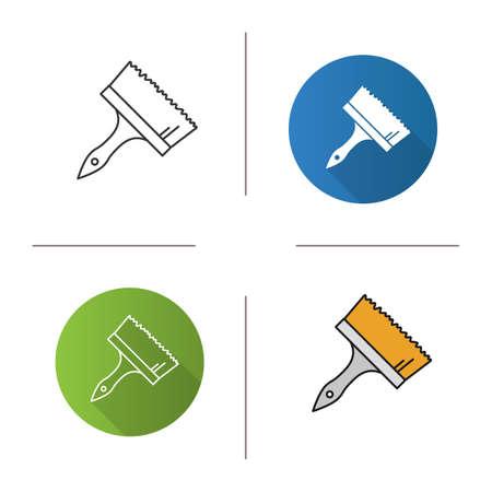 printmaking: Big paint brush icon