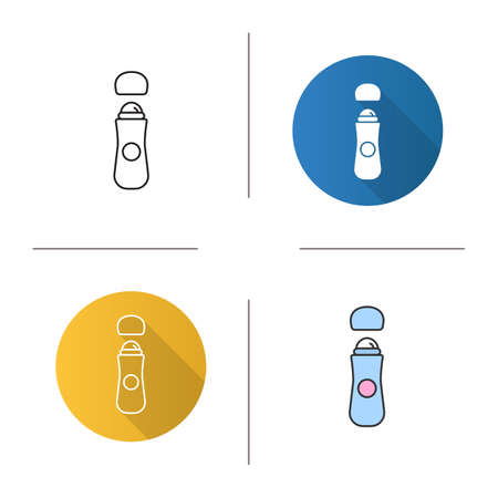 Roll antiperspirant icon Illustration